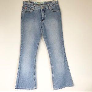 VTG Mudd Jeans 90s Light Wash Flare Size 11